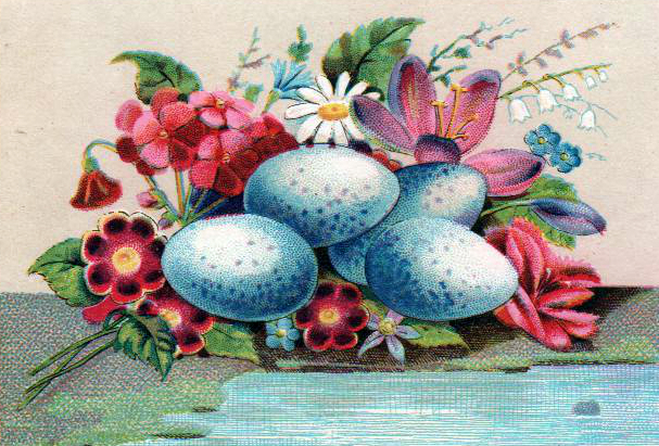 Copyright-free illustrations of blue eggs