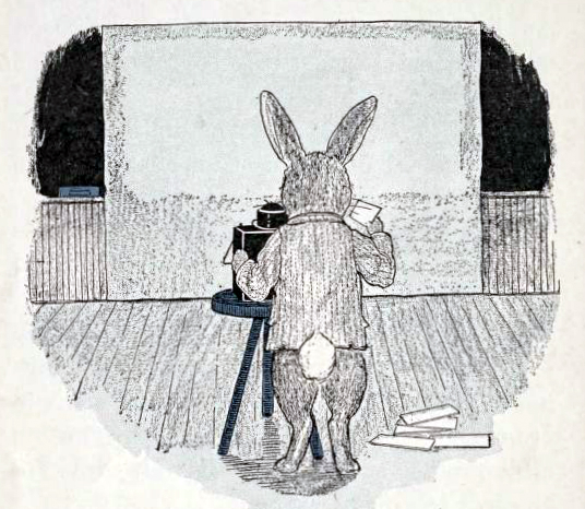 Free school bunny illustration from a 1923 public domain children's book