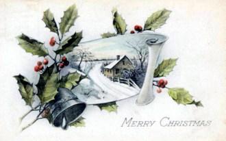 christmas illustration scroll