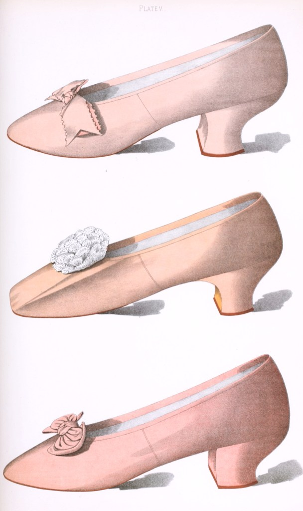 Pink shoes illustration public domain