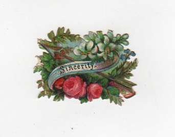 vintage serenity die cut for valentine's day