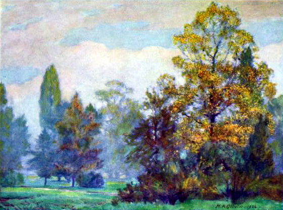 Free British vintage landscape from the early 20th-century public domain