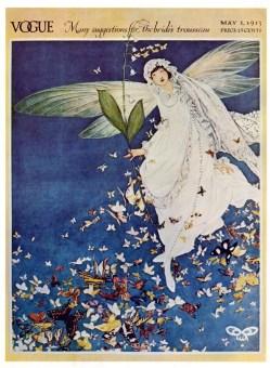 vintage fairy illustration vogue 1913 public domain