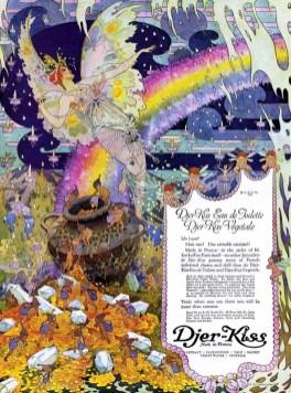 vintage rainbow fairies illustration 1921 public domain