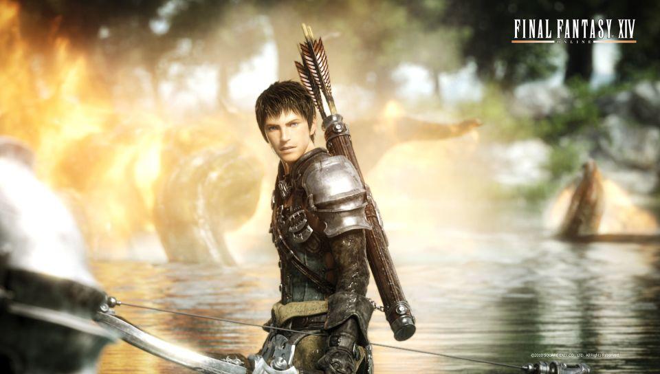Final Fantasy XIV The Male Warrior PS Vita Wallpapers