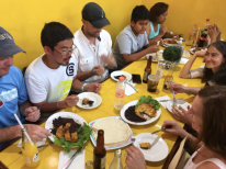 a nice meal in the market at the oaxaca street food tour by Free Walking Tour Mexico