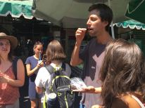 having grasshoppers in the Oaxaca Street Food Tour by Free Walking Tour Mexico