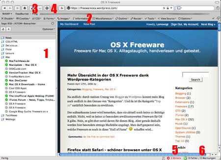 Screenshot Firefox OS X