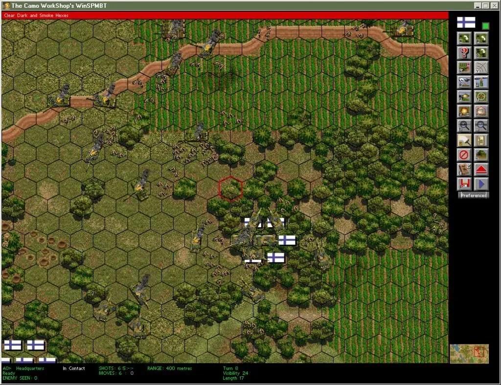 Screenshot of Battle in WinSPMBT