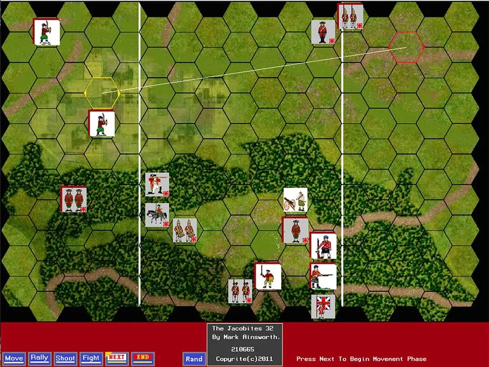 Screenshot from Mark Ainsworth's Latest Game: The Jacobites.