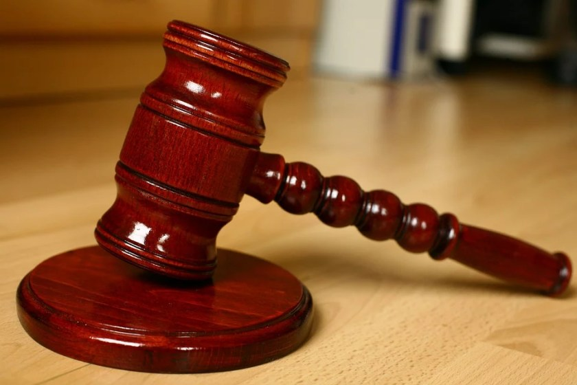 gavel on the table