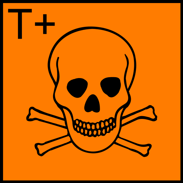 Very Toxic  Chemical sign