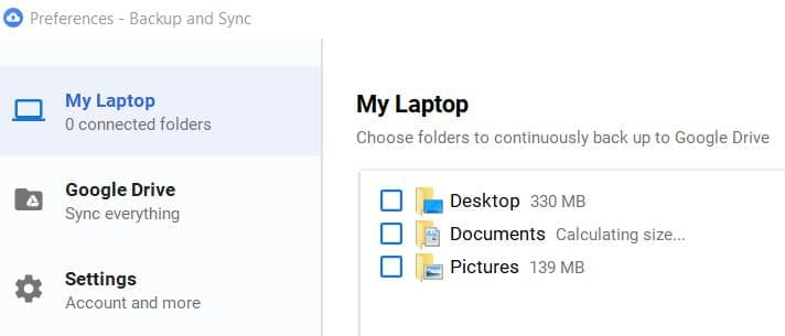 Google drive backup and sync restore into same folder after reset pc