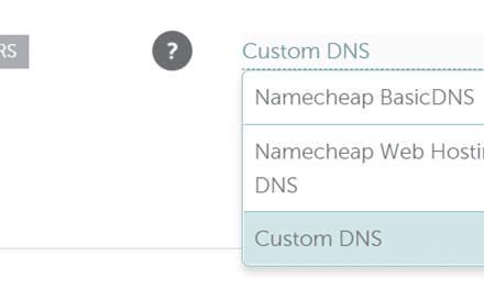 NameCheap Domain DNS Change