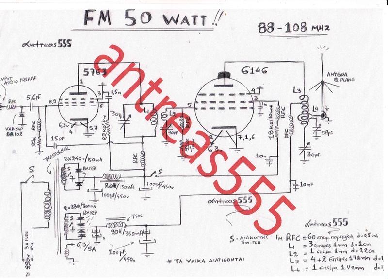 ** POMPOS FM 50 WATT / FM 50WATT TRANSMITTER [ 2 STAGE