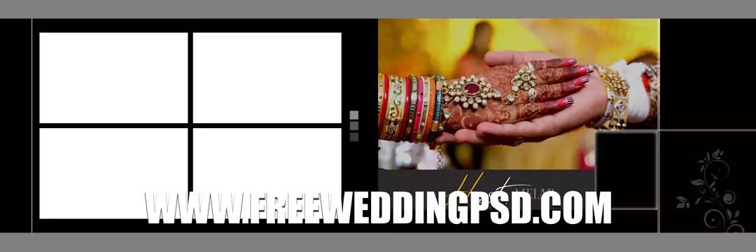free psd wedding photo template