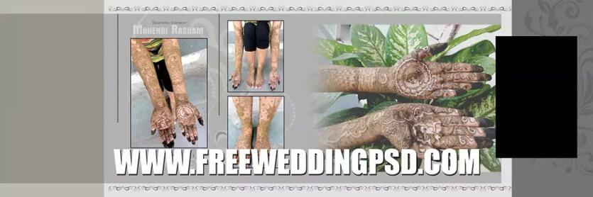 free wedding psd flyer