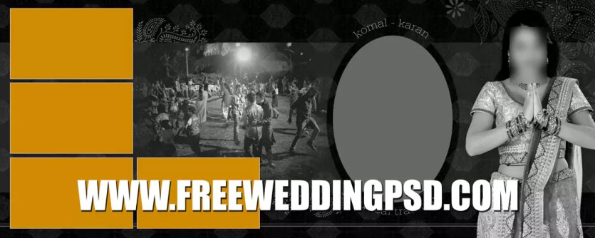 wedding website psd free download