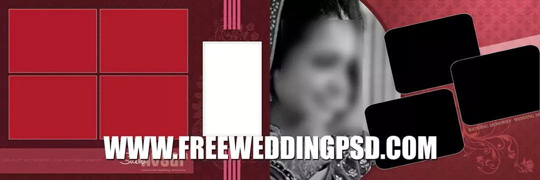 indian wedding photo frame psd