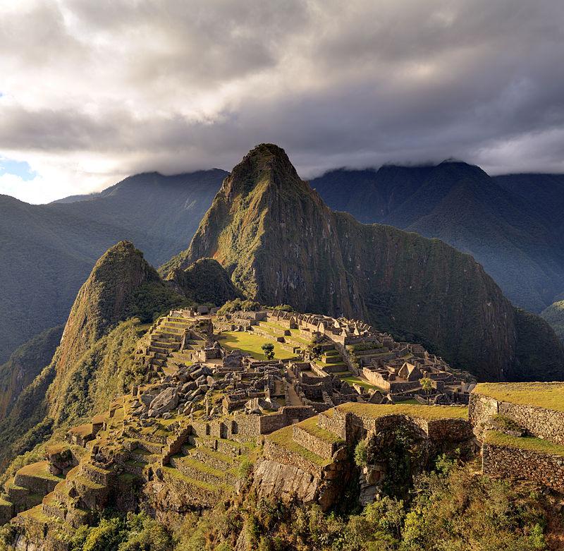 The Macchu Picchu, a UNESCO World Heritage Site near Cusco in Peru, at twilight.  Martin St-Amant (S23678)  via Wikipedia.