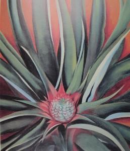 Pineapple Bud, 1939, oil on canvas.