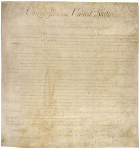 The Bill of Rights, twelve articles of amendment to the to the United States Constitution proposed in 1789, ten of which, Articles three through twelve, became part of the United States Constitution in 1791.