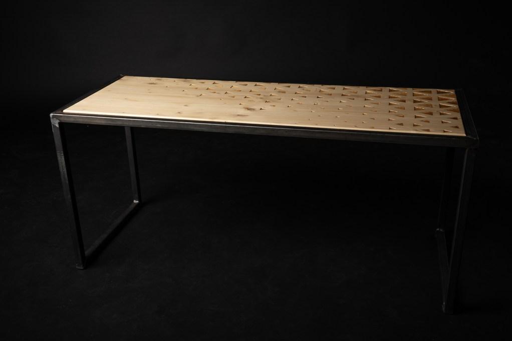 table basse gravure laser