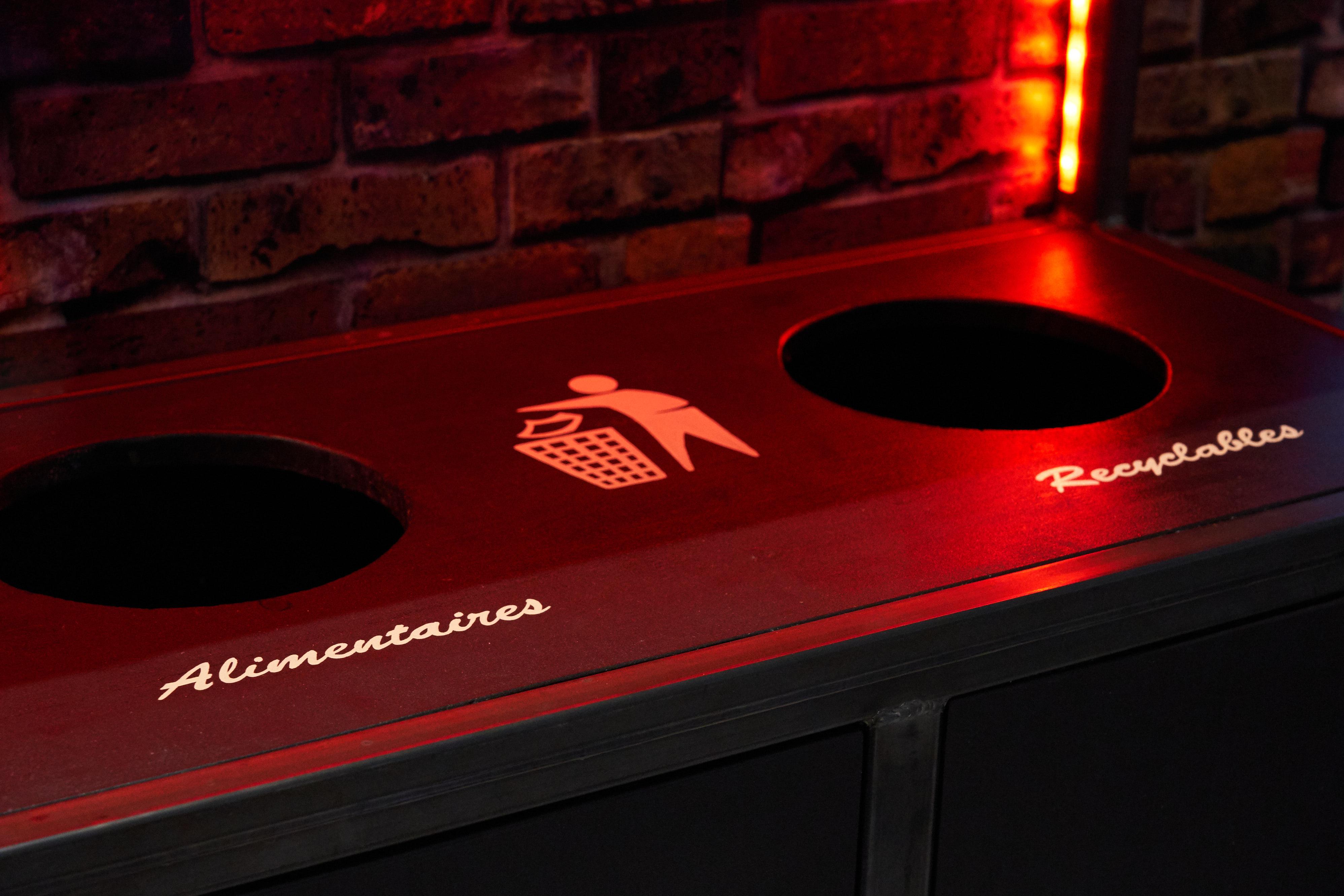 mobilier poubelle tri selectif