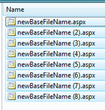 Multiple files renamed at once in Windows Vista