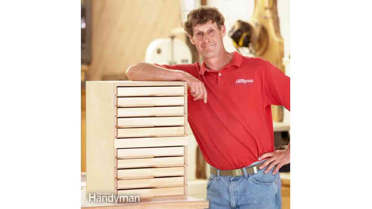 Tool Tray Tower - Free Woodworking Plan.com on Corner Sconce Shelf Tray id=69872