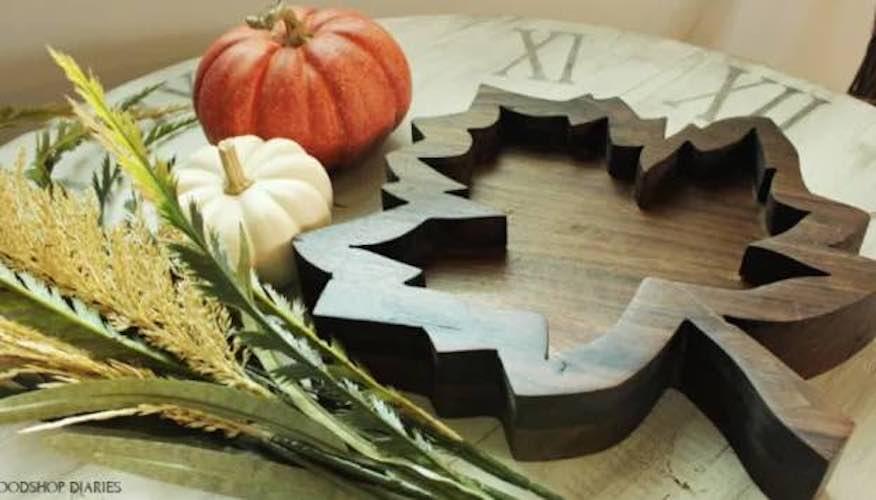 Leaf Tray - Free Woodworking Plan.com on Corner Sconce Shelf Tray id=81877