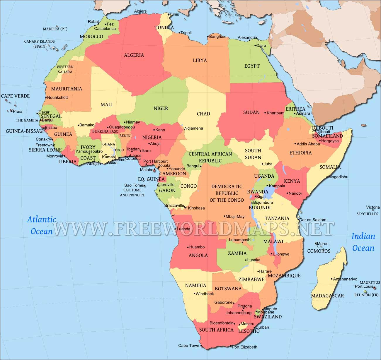 Africa Map Editable