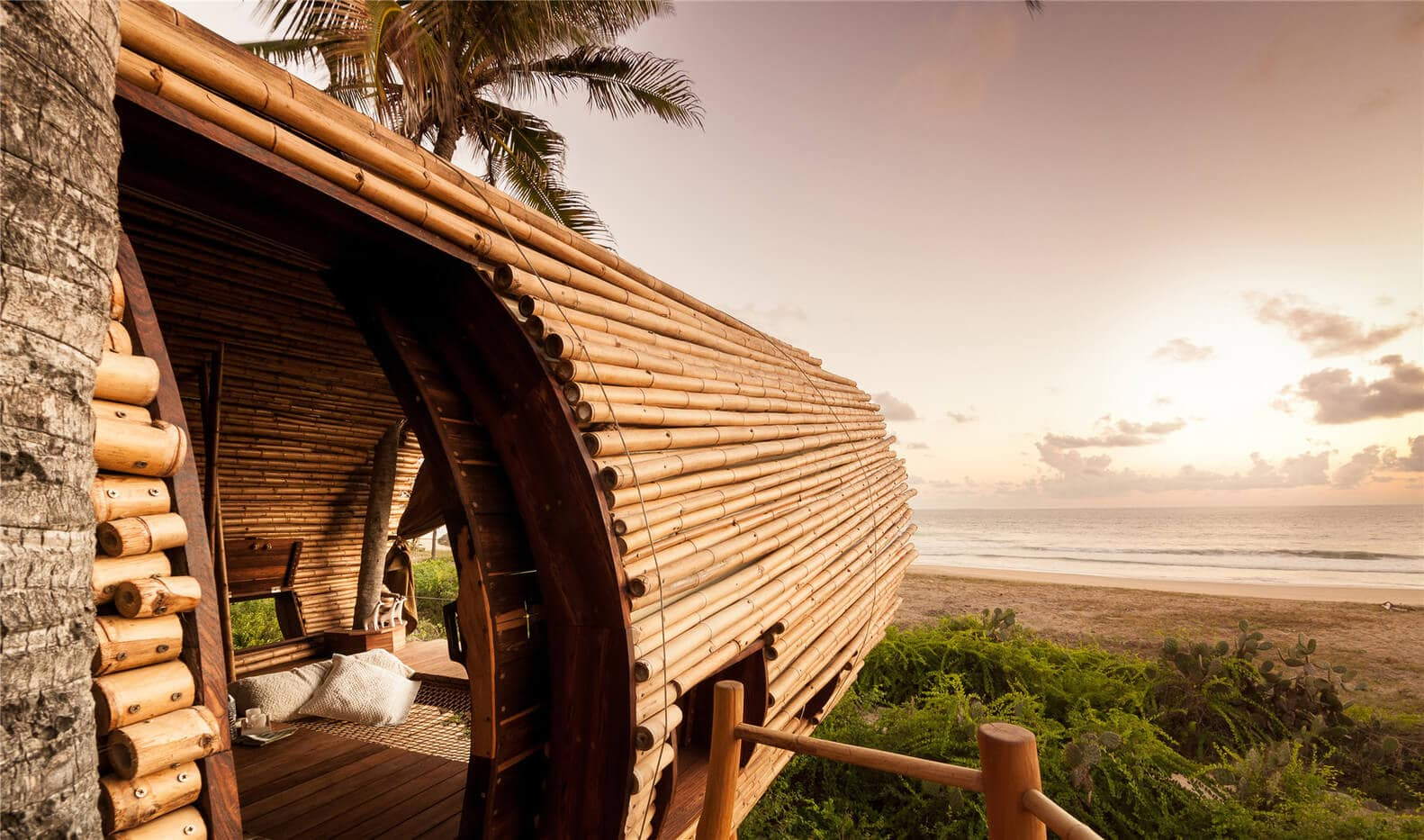 Sustainable Bamboo Treehouse Is A Solar Powered Resort In