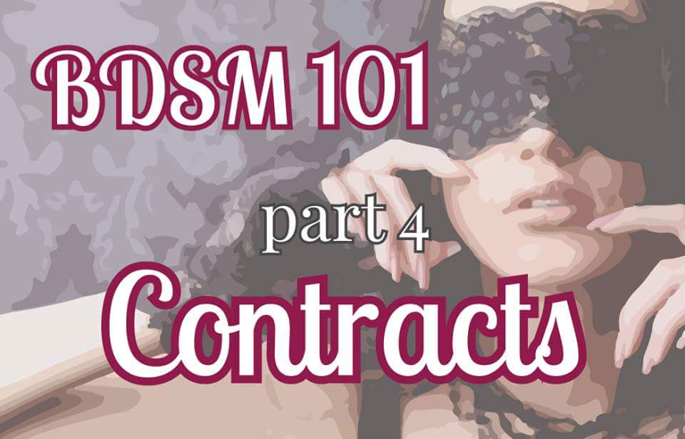 BDSM 101: Contracts