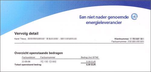 Openstaand bedrag: 0,99 euro
