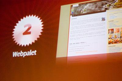 Tweede plaats: Webpalet
