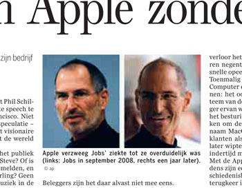 Steve Jobs en zijn futuristische versie