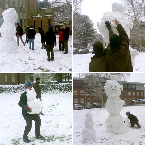 Onze sneeuwman