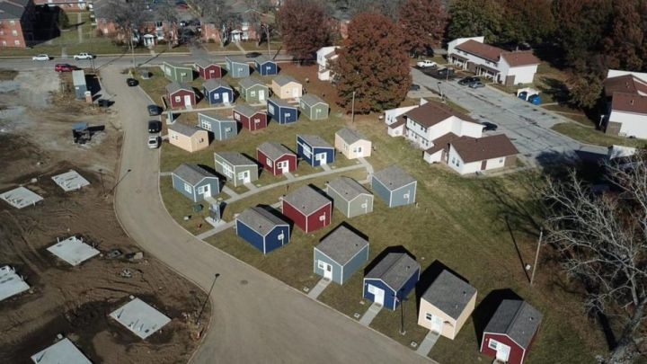 Stadt winzige Häuser Veteranen Kansas City