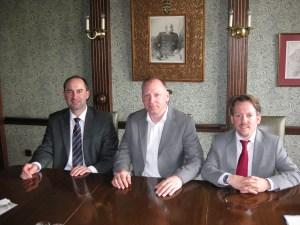 Von links nach rechts, Huber Aiwanger, Gerhard Wenderoth Stephan Wefelscheid