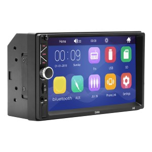 7-Zoll-Doppel-2DIN-Auto-MP5-Player Bluetooth-Touchscreen-Stereoradio USB-AUX-Kamera