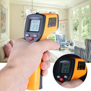 GM320 -50 ~ 380 ° C Infrarot-Thermometer LCD Anzeige Digitales Thermometer Temperaturprüfpyrometer IR Laserthermometer