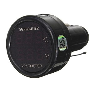 Auto Auto rot Led Digitalanzeige 2 in 1 Dual Volt Meterr Thermometer 12V