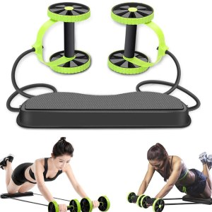 Double Ab Roller Abdominal Trainer Multifunktionaler Core Puller Roller Abnehmen Muskel Fitness Übungsgeräte