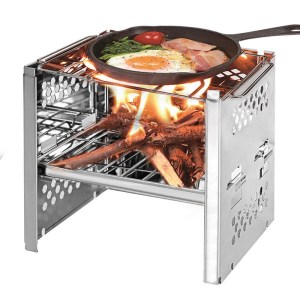IPRee® Outdoor Foladble Barbecue BBQ Grill Kochherd Holzofen Ofen Camping Picknick