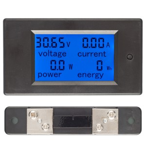 50A DC Digital Multi-Funktions-Spannung Strom Power Electric Energy Meter Batterie Tester mit 50A Sh