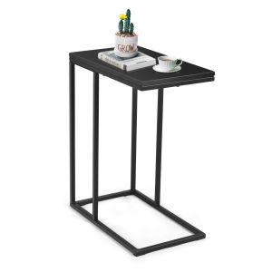 Industrial Styled C Shaped Side, End Table