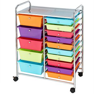 15 Drawers Mobile Storage Trolley