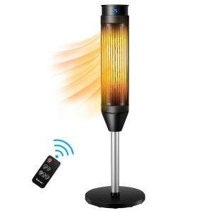 Electric Tower Fan / Heater with Digital Timer & Remote