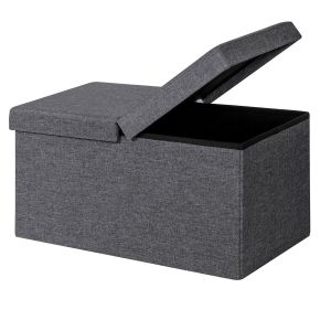 Folding Storage Ottoman with Lift Top Lid